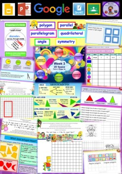 Year 5 2D Space Smart Notebook and Unit of Work Bundle 1