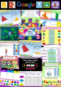 Year 5 3D Space Smart Notebook and Unit of Work Bundle 1