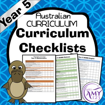Year 5 Australian Curriculum Checklists