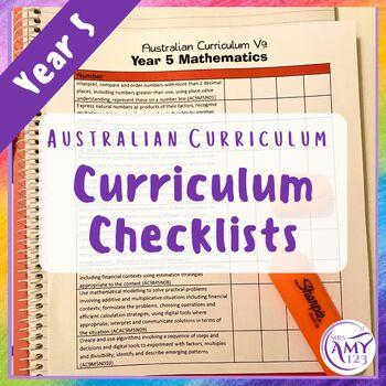 Year 5 Australian Curriculum Checklists