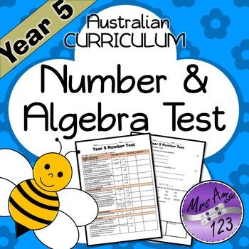 Year 5 ACARA Number Maths Test