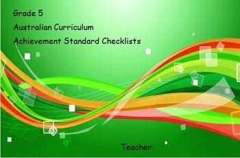 Year 5 Australian Curriculum Achievement Standards Class Checklist
