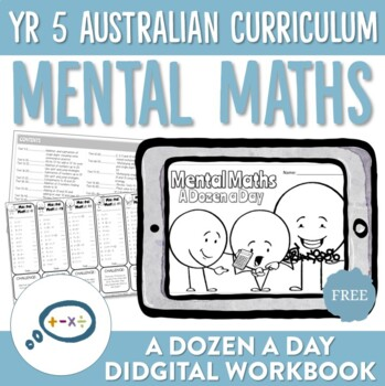 Year 5 Australian Curriculum Aligned Mental Maths Digital Workbook - FREE TRIAL