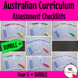 Year 5 Australian Curriculum Assessment Checklists BUNDLE