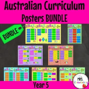 Year 5 Australian Curriculum Poster Bundle