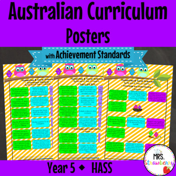 Year 5 Australian Curriculum Posters {with Achievement Sta