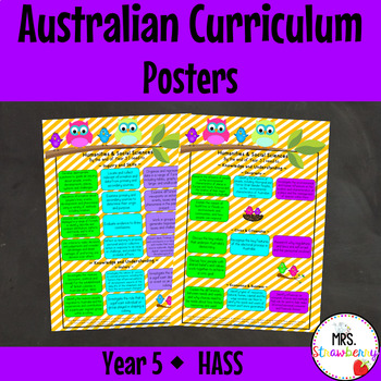 Year 5 Australian Curriculum Posters – Humanities and Social Sciences {HASS}