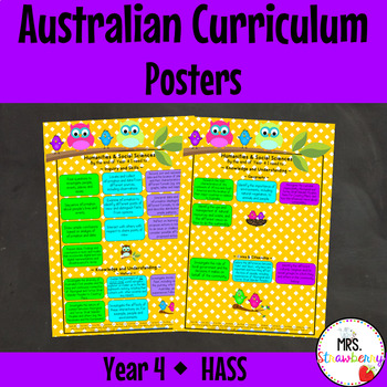 Year 4 Australian Curriculum Posters – Humanities and Social Sciences {HASS}