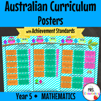 Year 5 Australian Curriculum Posters – Mathematics {with A