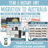 Year 5 Australian Curriculum History Unit - Migration to Australia
