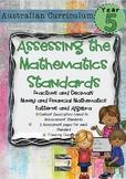 Year 5 Australian Curriculum Maths Assessment - Fractions, Money and Patterns