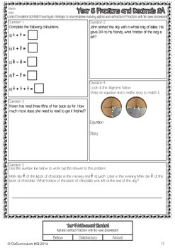 Year 5 Australian Curriculum Maths Assessment - Fractions, Money and Patterns