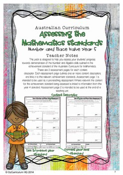 Year 5 Australian Curriculum Maths Assessment - Number and Place Value
