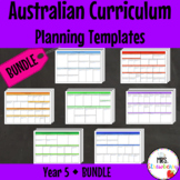 Year 5 Australian Curriculum Planning Templates Bundle