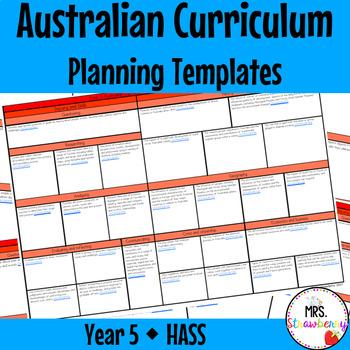 Year 5 Australian Curriculum Planning Templates - HASS