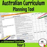 Year 5 Australian Curriculum Planning Tool – with Achievement Standards