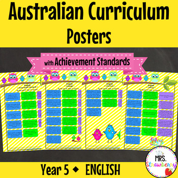 Year 5 Australian Curriculum Posters – English {with Achievement Standards}