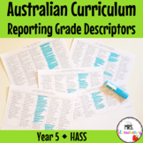 Year 5 Australian Curriculum Reporting Grade Descriptors - HASS