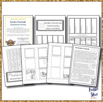 Australian Gold Rush Eureka Stockade Comprehension - 2 Activities!