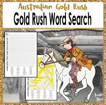 Australian Gold Rush Word Search