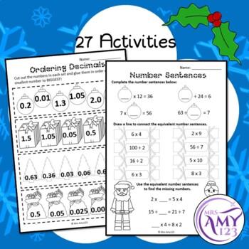 Year 5 Christmas Maths Revision - Australian Curriculum Aligned