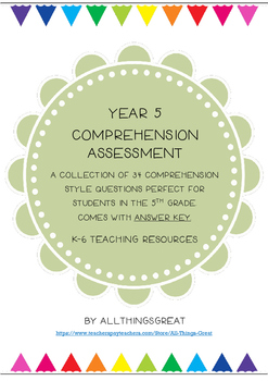 Year 5 Comprehension Assessment