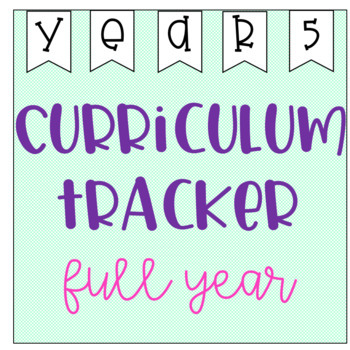 Year 5 Curriculum Tracker