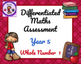 Year 5 Differentiated Maths Assessment Whole Number 1