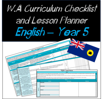 Year 5 English Western Australian Curriculum Checklist and Lesson Planner
