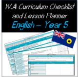 Year 5 English Western Australian Curriculum Checklist and