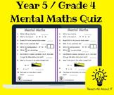 Year 5 / Grade 4 Mental Maths Quiz