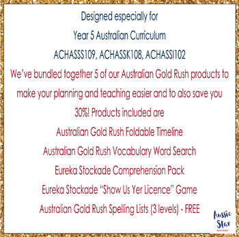 Australian Gold Rush BUNDLE SAVE 20%