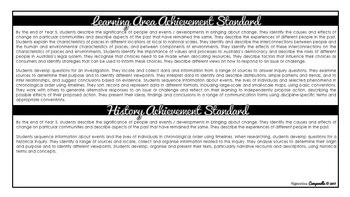 Year 5 HASS (Black & White)   Australian Curriculum Checklist