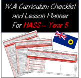 Year 5 HASS Western Australian Curriculum Checklist and Lesson Planner