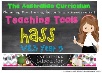 Year 5 HASS v8.3 Australian Curriculum Package