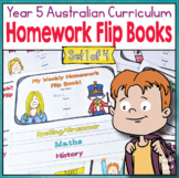 Year 5 Homework Flip Books For a Whole Term! Set 1 - Austr