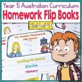 Year 5 Homework Flip Books For a Whole Term! Set 1 - Austr
