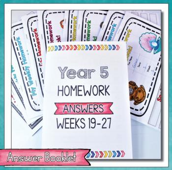 Year 5 Homework Flip Books For a Whole Term! Set 3 - Australian Curriculum.