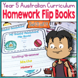 Year 5 Homework Flip Books For a Whole Term! Set 3 - Austr