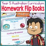 Year 5 Homework Flip Books For a Whole Term! Set 3 - Austr