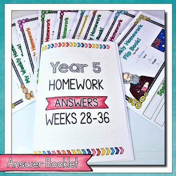Year 5 Homework Flip Books For a Whole Term! Set 4 - Australian Curriculum.