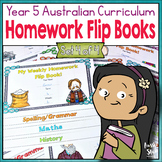 Year 5 Homework Flip Books For a Whole Term! Set 4 - Austr