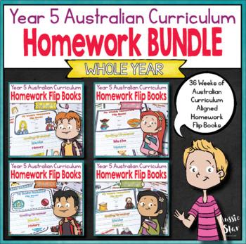 Year 5 Homework Flip Books For a Whole Year! - Australian Curriculum aligned
