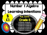 Year 5 Math – Number & Algebra Learning INTENTIONS & Success Criteria Posters