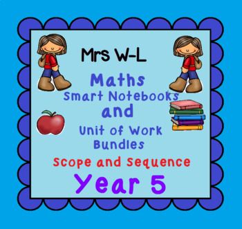 Year 5 Maths SCOPE AND SEQUENCE for Smart Notebook & Unit of Work Bundles