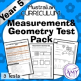 Year 5 Measurement & Geometry Maths Test Pack- Australian