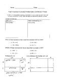 Year 5 Multiplication and Division Pretest (Australian Curriculum)
