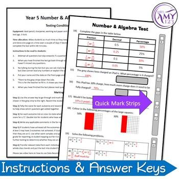 Year 5 Number & Algebra Maths Test Pack - Australian Curriculum