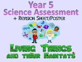 Year 5 Science Assessment: Living Things and Their Habitat + Poster