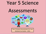 Year 5 Science Assessments and Tracking